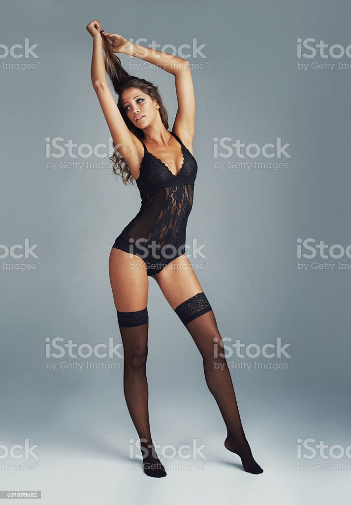 I hate being sexy but someone has to do it stock photo