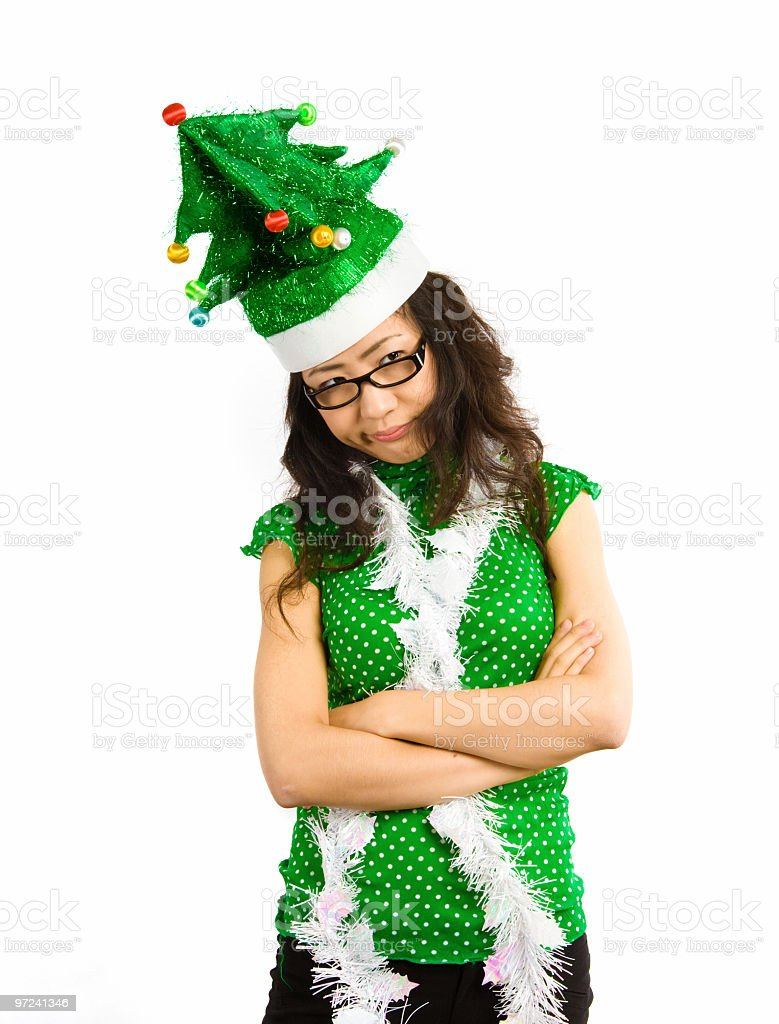 I hate Christmas! royalty-free stock photo