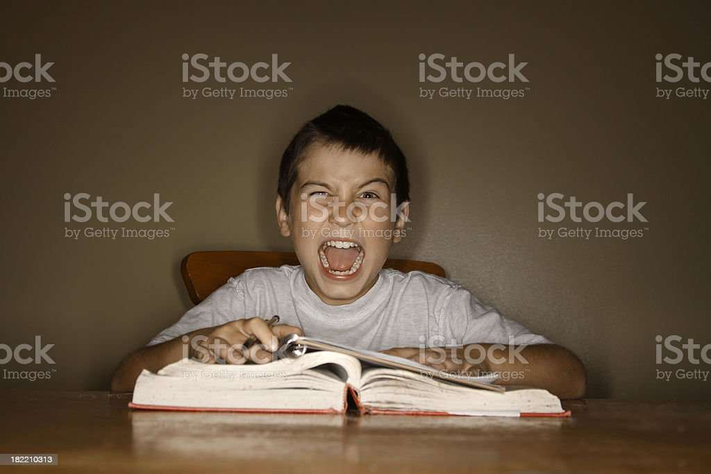 I hate homework! royalty-free stock photo