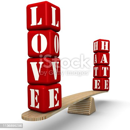 istock Hate or love 1136895256