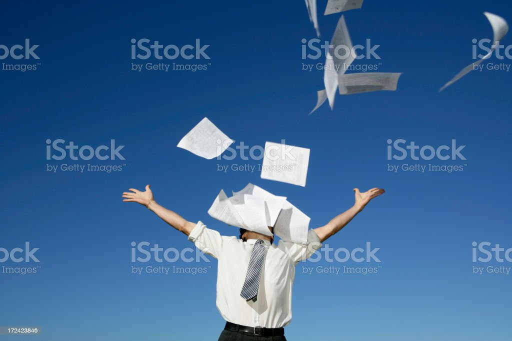 Hate Paperwork!!! stock photo