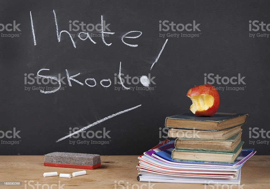 I Hate School! royalty-free stock photo