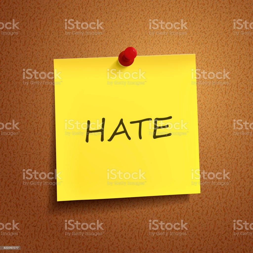 hate palabra en ingls lista mensaje nota adhesiva papel
