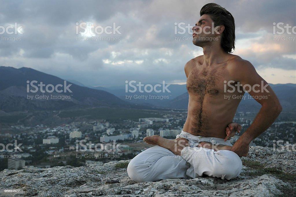 Hatha-yoga: padmasana#3 royalty-free stock photo