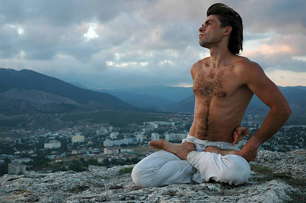 Naked Yoga Men Male Stock Photos, Pictures & Royalty-Free