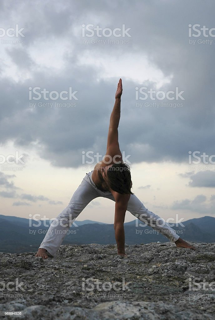 Hatha-yoga royalty-free stock photo