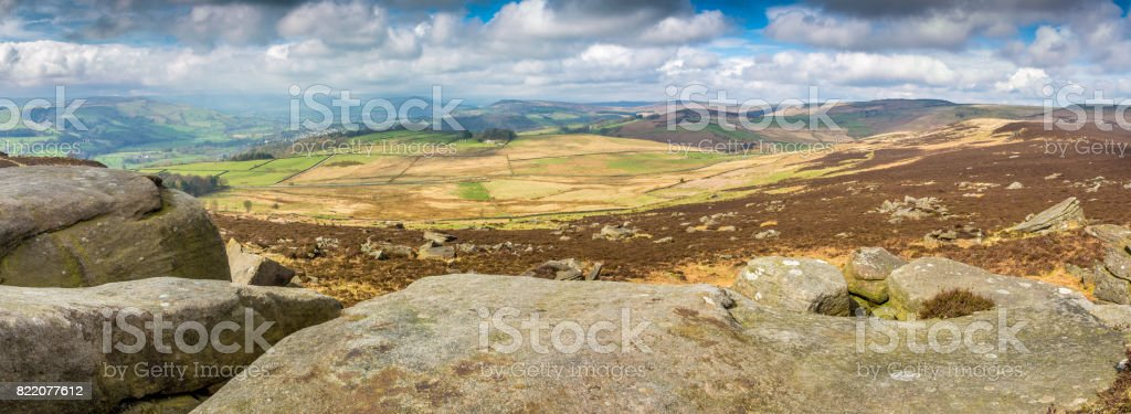 Hathersage Derbyshire in Spring time stock photo
