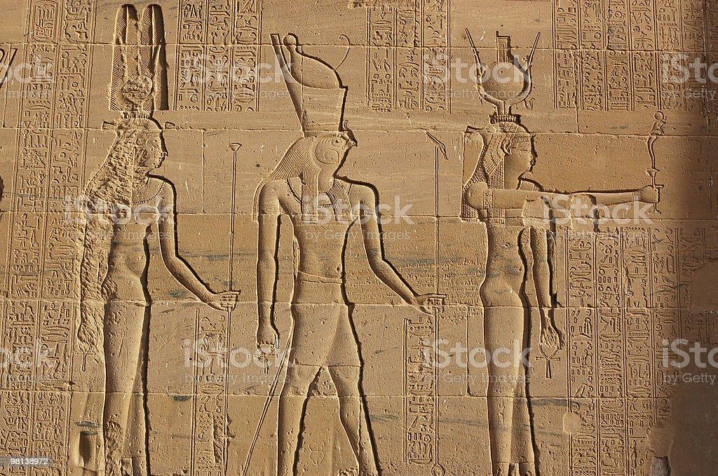 Hathor, Horus and Isis royalty-free stock photo