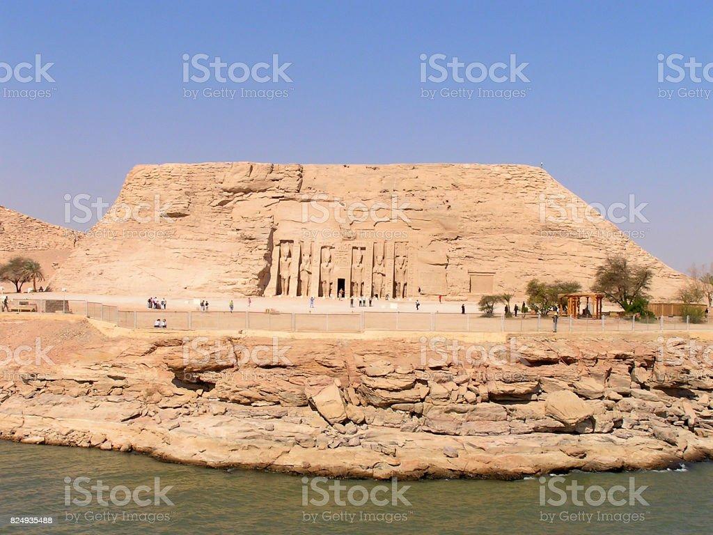Hathor Temple of Nefertari stock photo