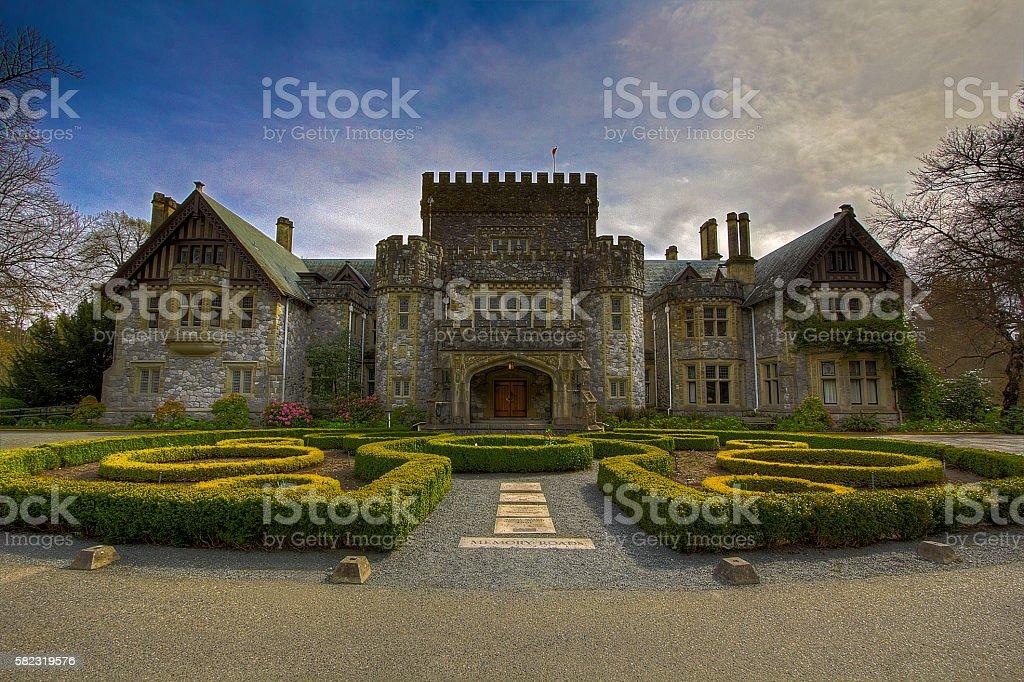 Hatley Castle stock photo