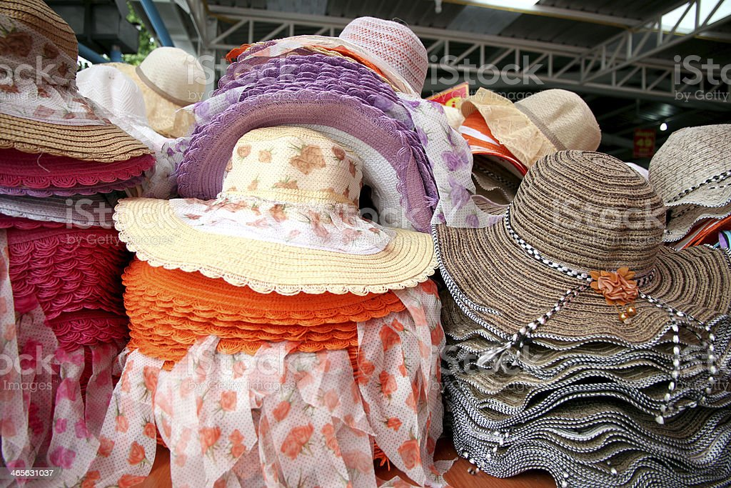 Hats are stacked. royalty-free stock photo