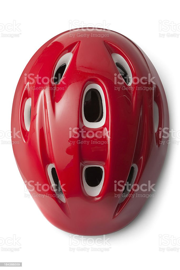 Hats: Bicycle Helmet stock photo