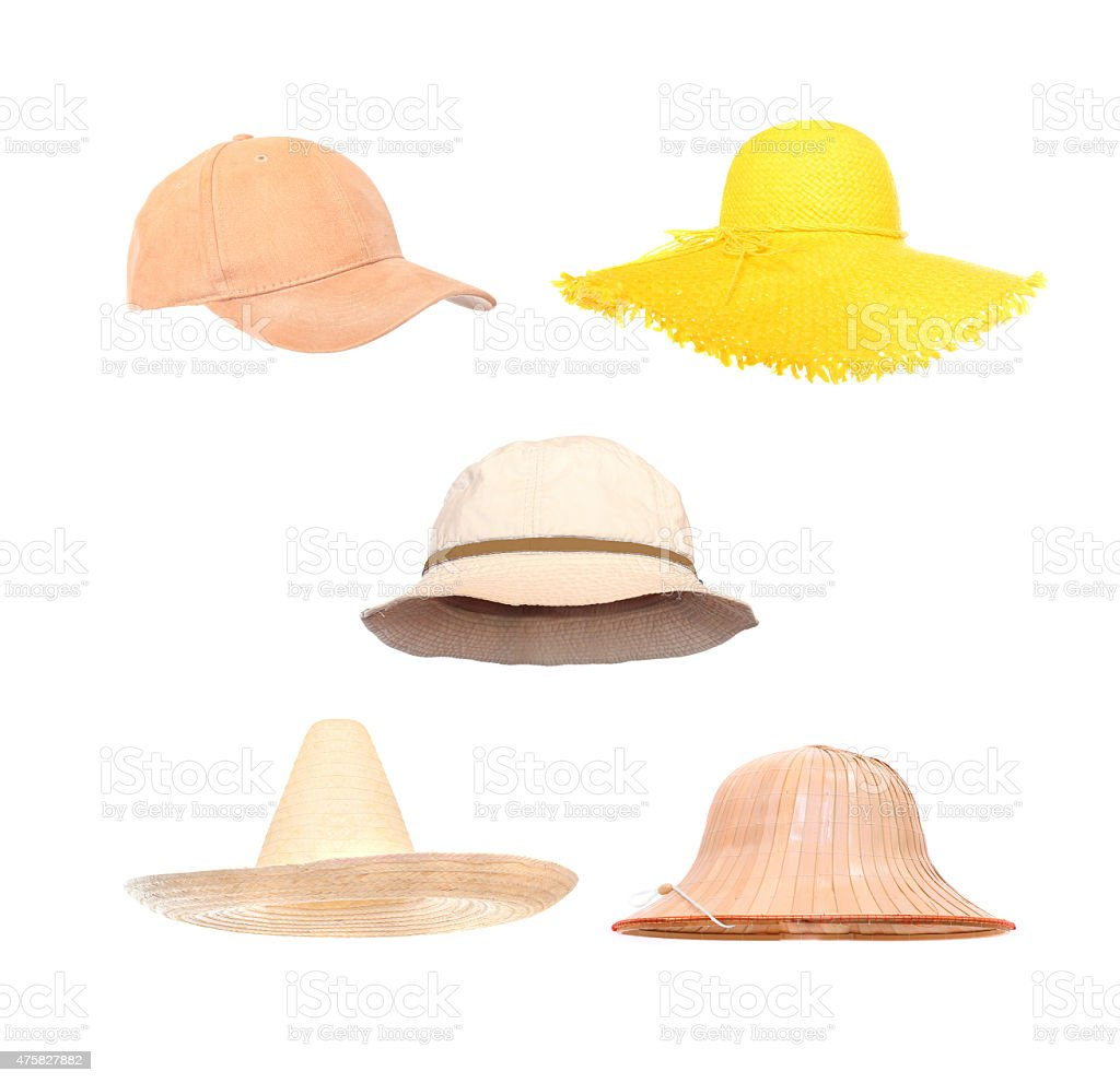 Hats collection. stock photo