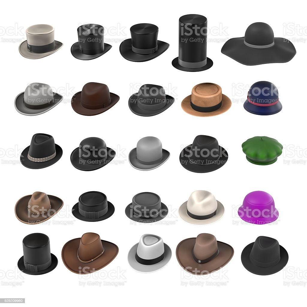 hats collection stock photo