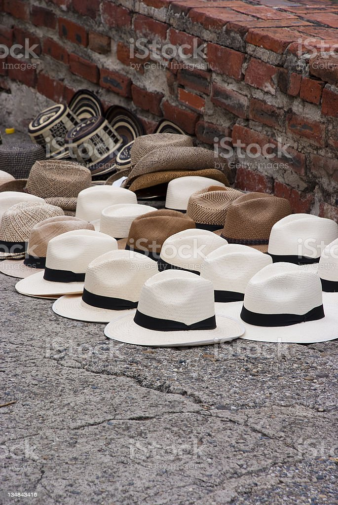 Hats in South America, Columbia royalty-free stock photo
