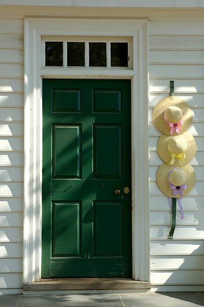 Hats in the Doorway stock photo