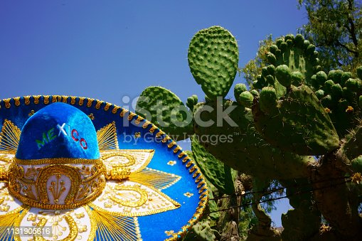 Hats: Mexican Sombrero Isolated on  Mayan Background