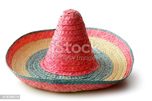 Hats: Mexican Sombrero Isolated on White Background