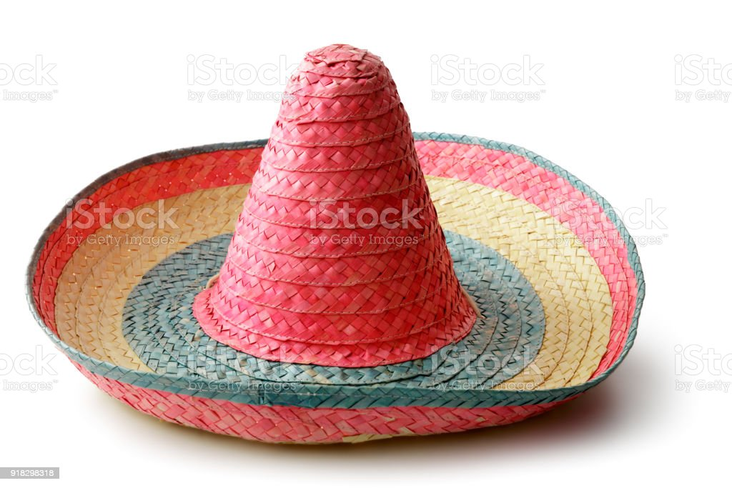 Hats: Mexican Sombrero Isolated on White Background stock photo