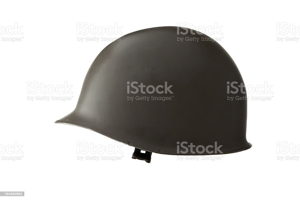 Hats: Military Helmet stock photo