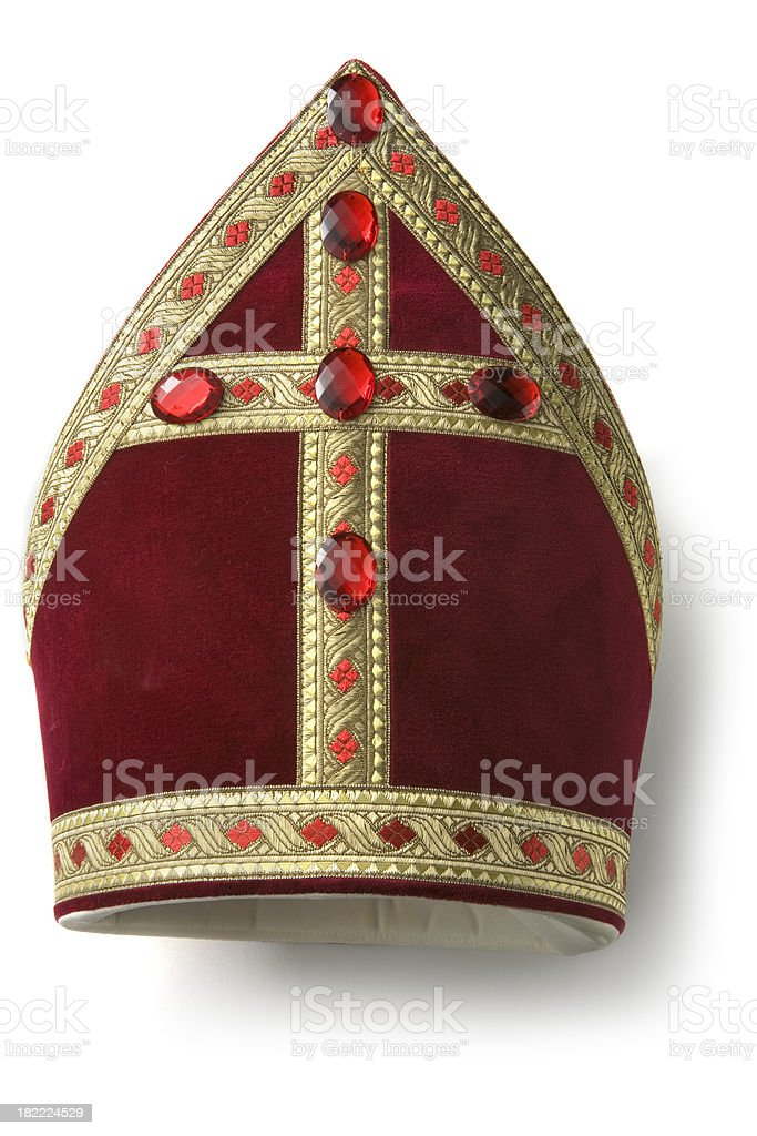 Hats: Miter of Sinterklaas stock photo