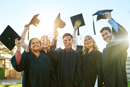 istock Hats off to our greatest victory! 894321490