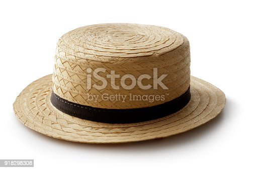 Hats: Straw Hat Isolated on White Background