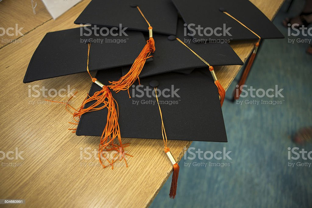 Hats student at stake royalty-free stock photo