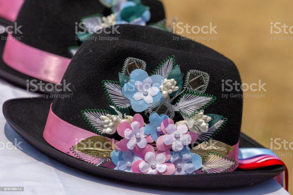 Chapeaux utilisés par les allemands de souche dans la région de Banat, Roumanie - Photo