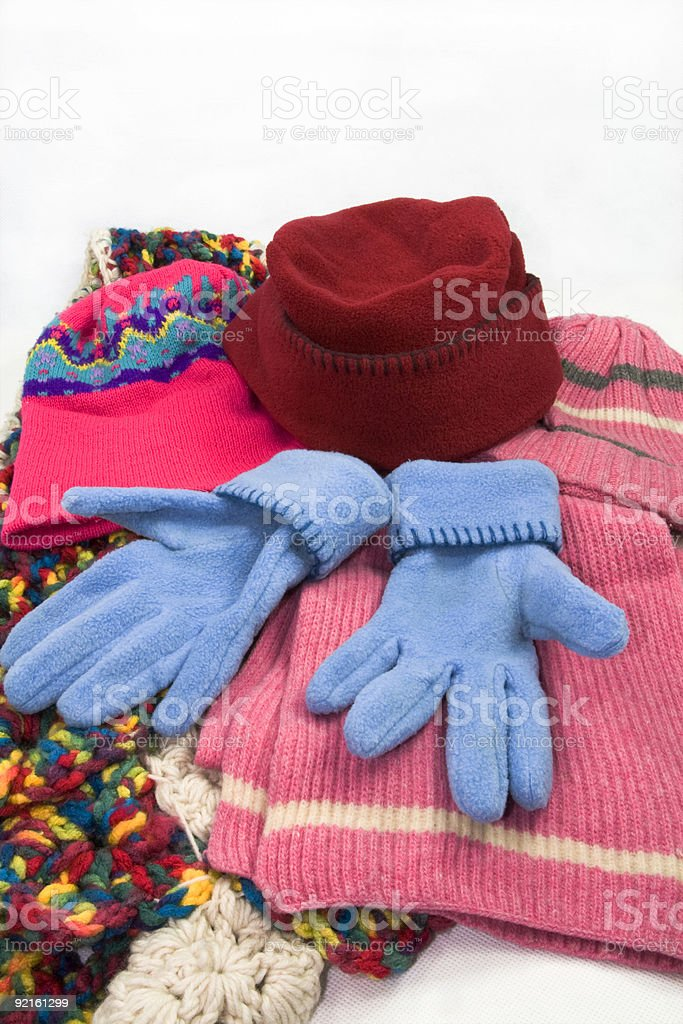 hat,scarf and gloves stock photo