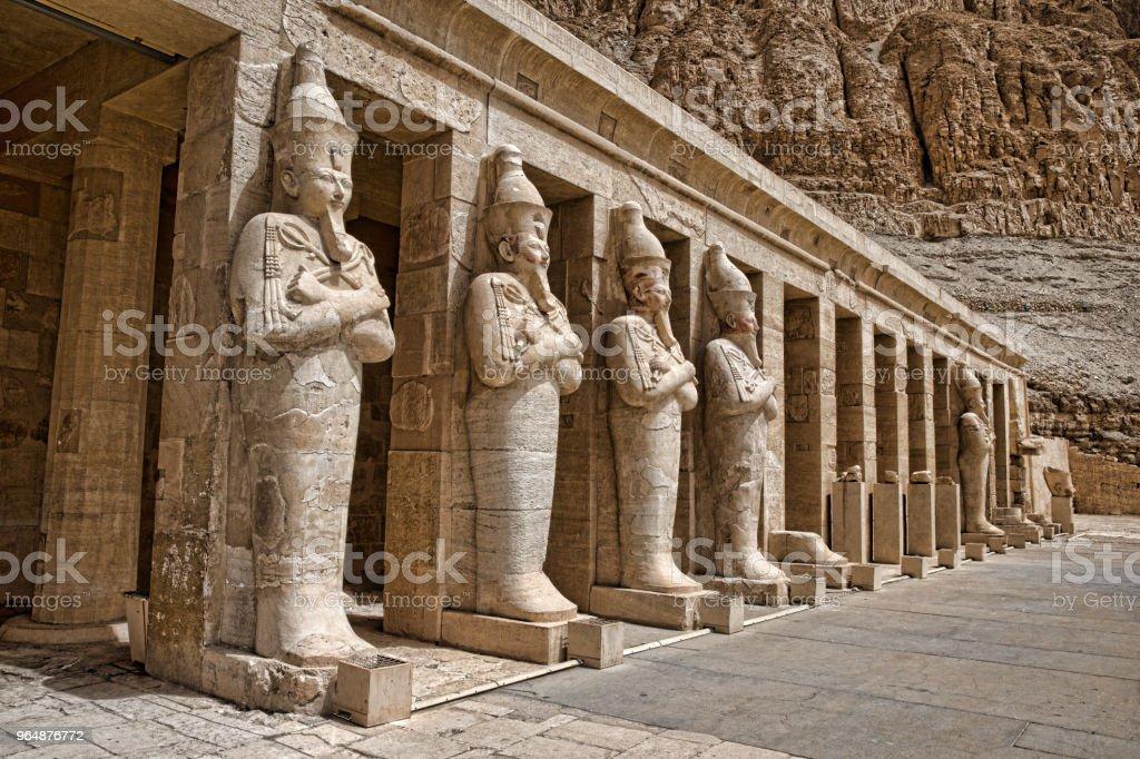 Hatshepsut near Luxor in Egypt royalty-free stock photo