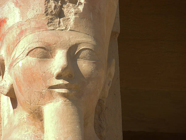Hatshepsut Detail of statue of queen Hatshepsut in temple in Egypt. valley of the kings stock pictures, royalty-free photos & images