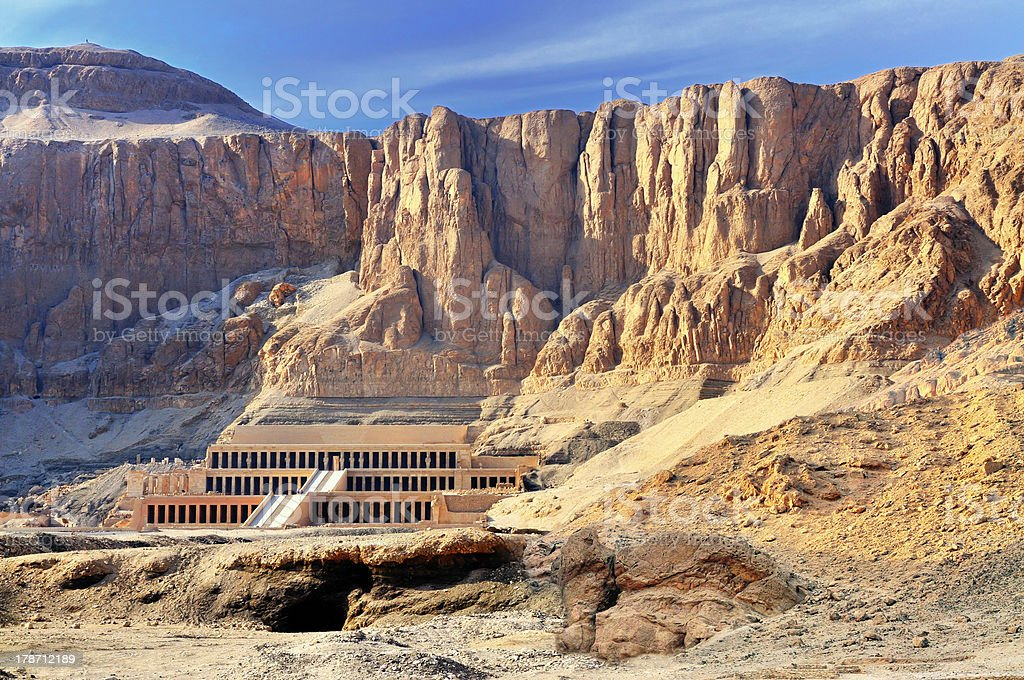 Hatshepsut Temple - Valley of the Kings stock photo