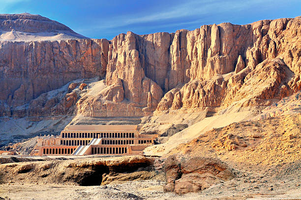 Hatshepsut Temple - Valley of the Kings The Hatshepsut temple in the Valley of the Kings valley of the kings stock pictures, royalty-free photos & images
