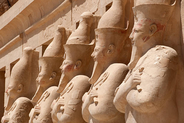 Hatshepsut's Temple Temple of Hatshepsut - Deir el-Bahari Complex near The Valley Of The Kings valley of the kings stock pictures, royalty-free photos & images