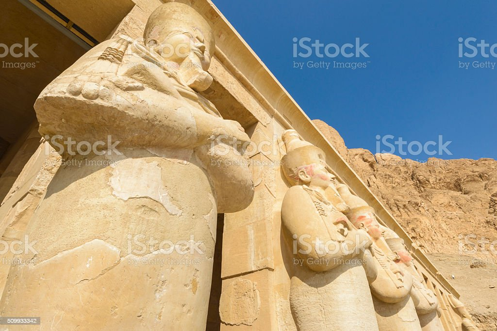 Hatshepsut's temple, Theban Necropolis, Egypt stock photo