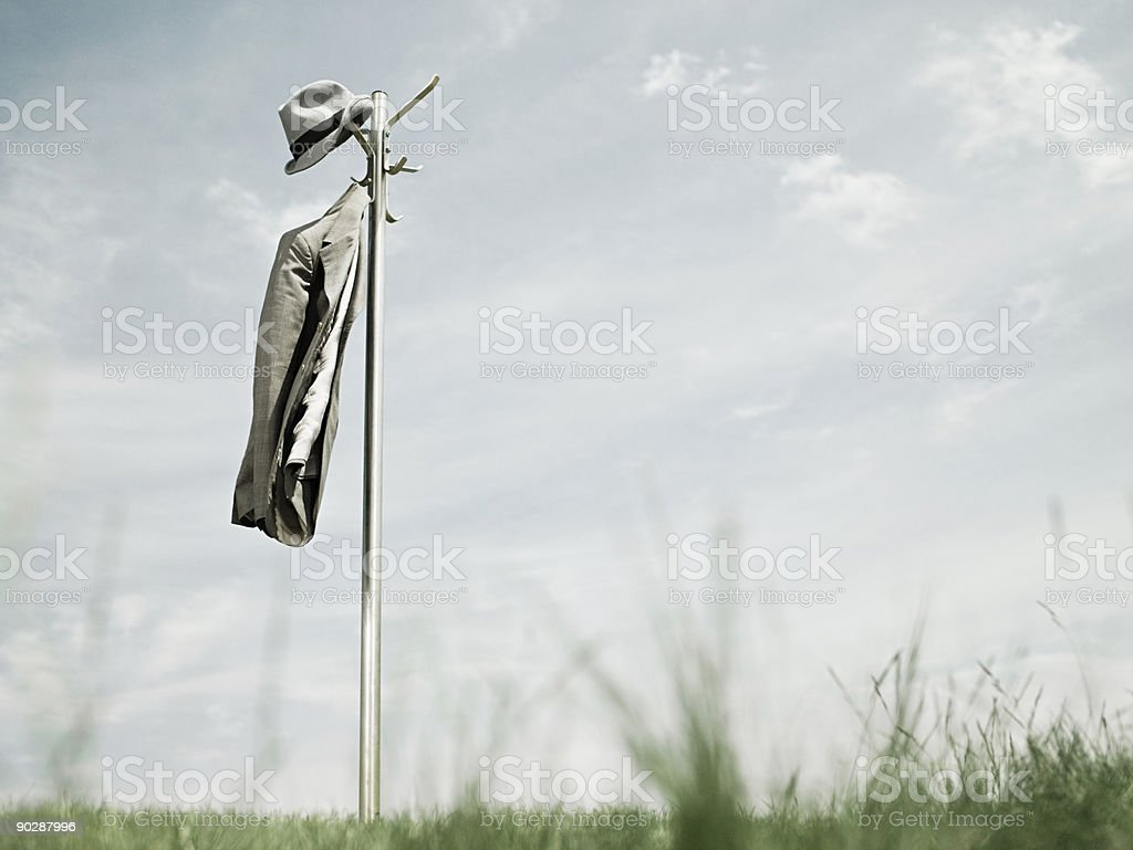 Hatstand outdoors royalty-free stock photo