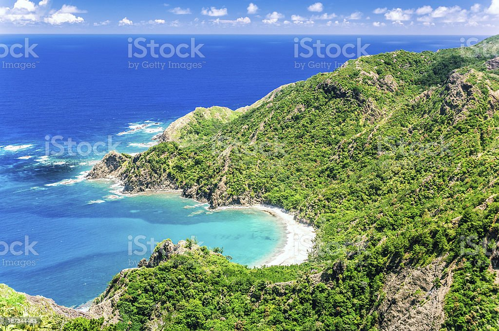 Hatsune Ura Beach - Ogasawara (Bonin) Islands stock photo