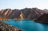 Hatta Lake in Dubai emirate, UAE