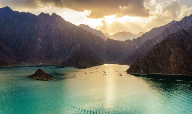 Hatta Lake in Dubai, UAE stock photo