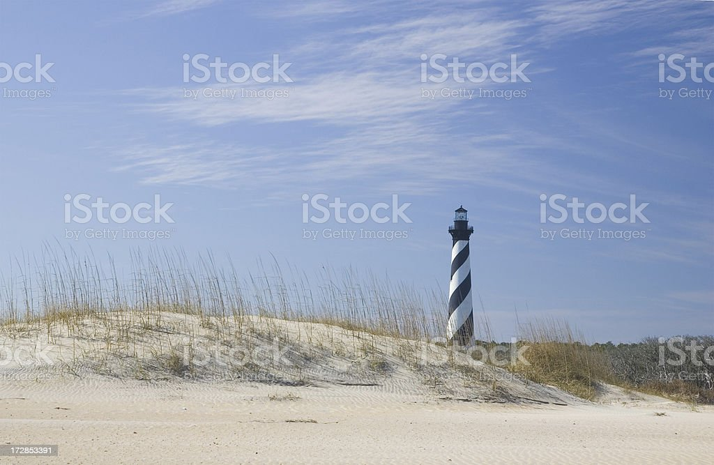 Hatteras Lighthouse and the dunes stock photo