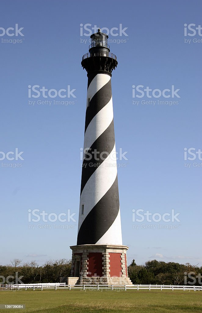 Hatteras Lighthouse stock photo