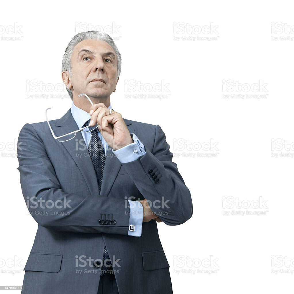 Haughty boss. stock photo