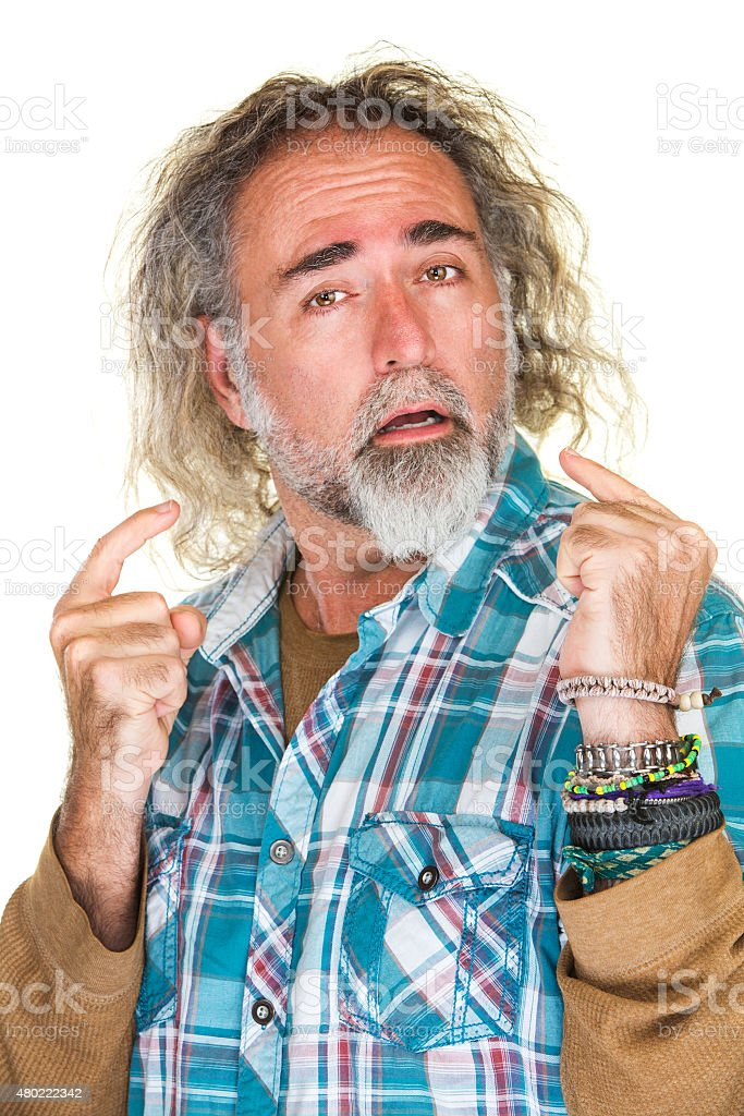 Haughty Middle Aged Man stock photo