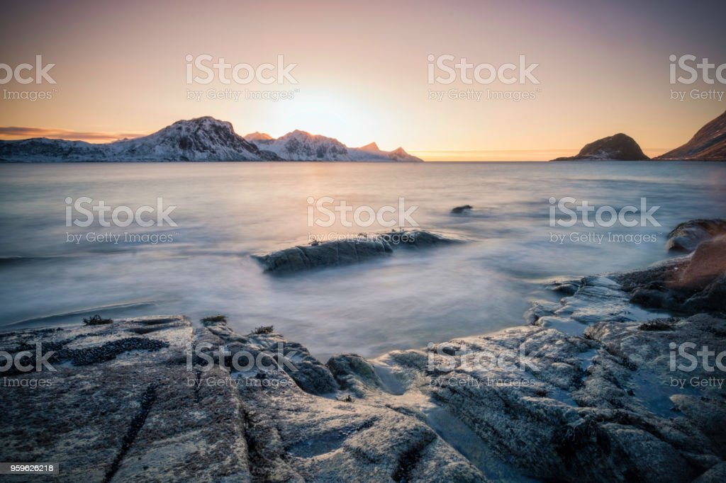 Haukland - Lofoten - Foto de stock de Agua libre de derechos