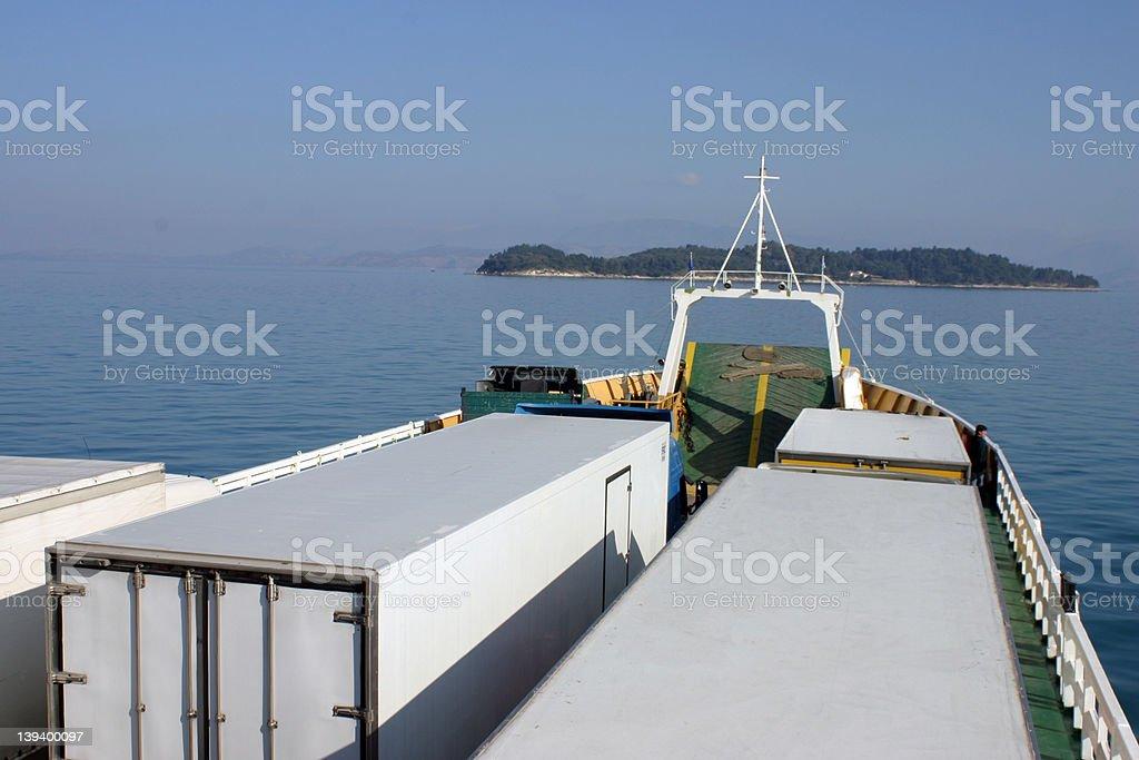 Hauling Cargo royalty-free stock photo
