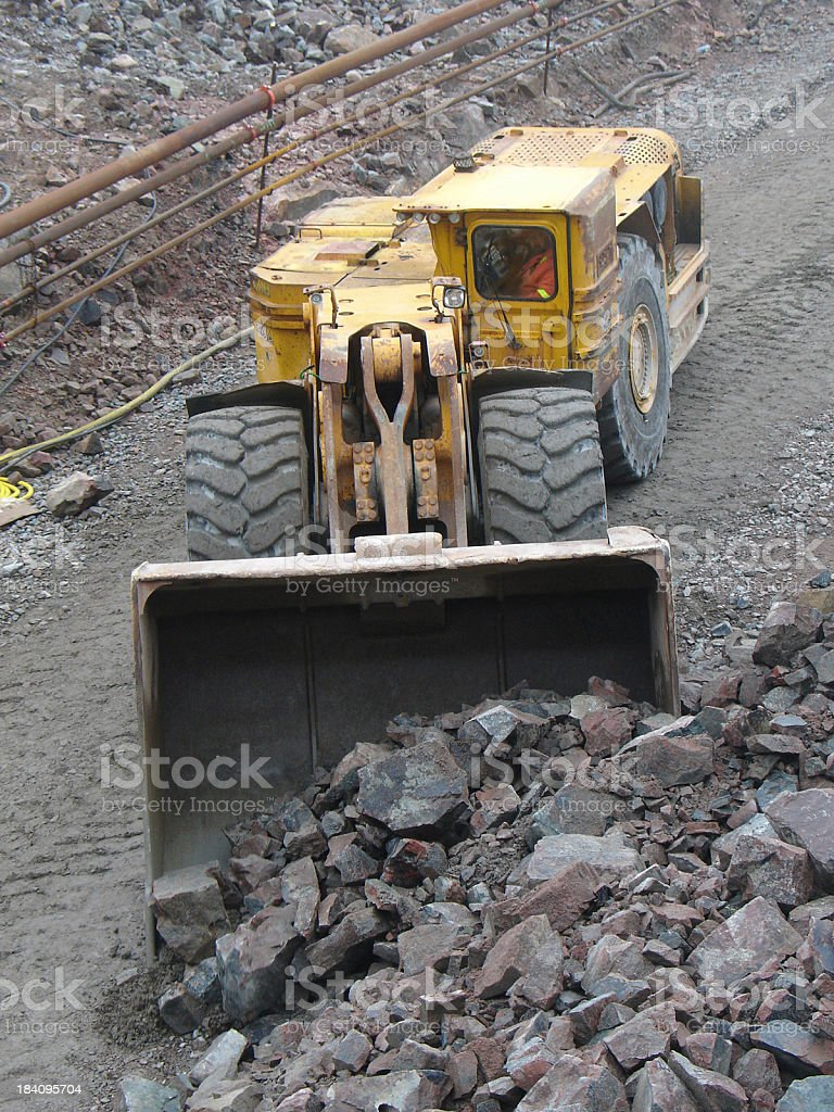 Hauling Muck stock photo