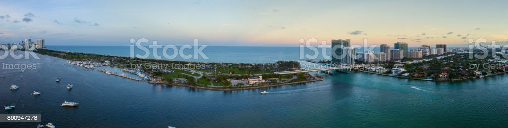Haulover Park and Bal Harbour Florida USA stock photo