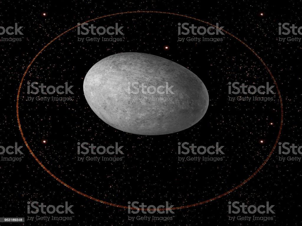 Haumea dwarf planet stock photo