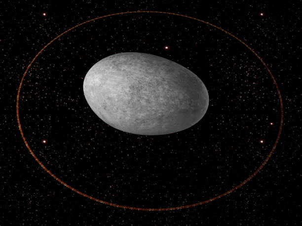 Haumea dwarf planet stock photo